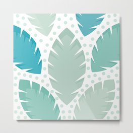 Tropic Leaves Background #society6 #decor #buyart #artprint Metal Print