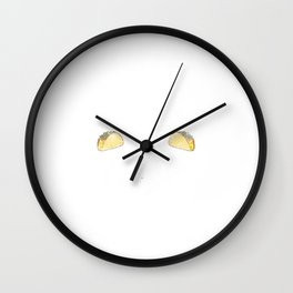 Wrestling and Tacos Funny Taco Distressed Wall Clock