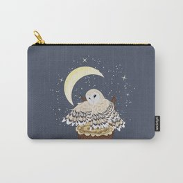 Barn Owl on a Tree Stump Carry-All Pouch