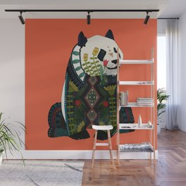 panda orange Wall Mural
