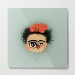 """""""Pies para qué los quiero si tengo alas para volar""""  (Frida Kahlo) Metal Print"""