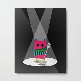 Monster + Mic Metal Print