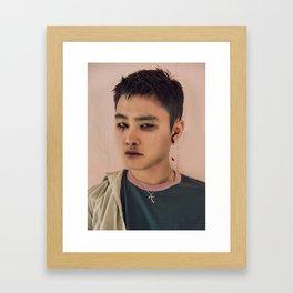 Busted Kyungsoo Framed Art Print