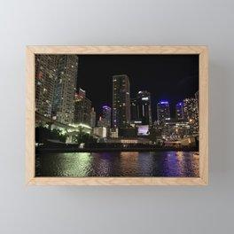 Miami City Nights Framed Mini Art Print