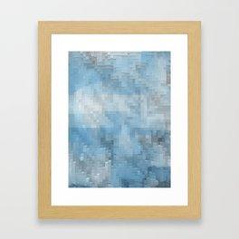 Abstract blue pattern 3 Framed Art Print