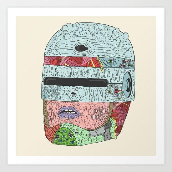 Gorebocop Art Print