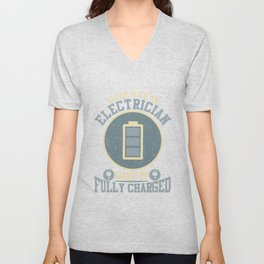 Electrician Wife Electrical Technician Husband Unisex V-Neck