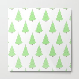 Background christmas tree Metal Print