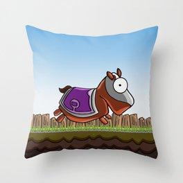 Joust It (Horsey) Throw Pillow