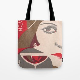 Flapper and Wine Tote Bag