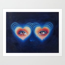 Heart eyes 4 U Art Print