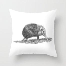 Black Shrew Throw Pillow
