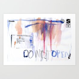 Do Not Open #2 Art Print