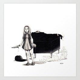 When Sally Snaps Art Print