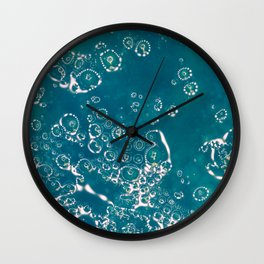 Blue Bubble Abstract Wall Clock