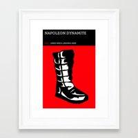 napoleon dynamite Framed Art Prints featuring Napoleon Dynamite by David Edward Johnson