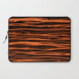 Harvest Orange Abstract Lines Laptop Sleeve