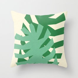 Two Leafs Throw Pillow