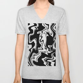 Stripes, distorted 7 Unisex V-Neck