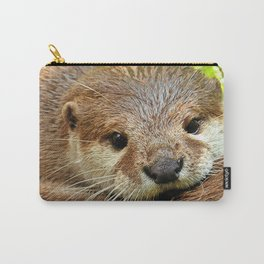 brown baby otter Carry-All Pouch