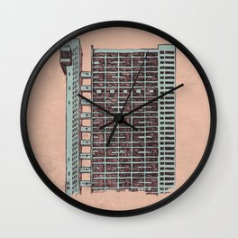 Brutalist Architecture Trellick Tower  Wall Clock
