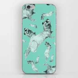 Mink in Bleu (pattern) iPhone Skin