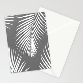 Dark Gray Tropical Pattern Stationery Cards