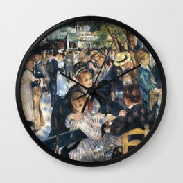 Dance at Le Moulin de la Galette by Renoir Wall Clock