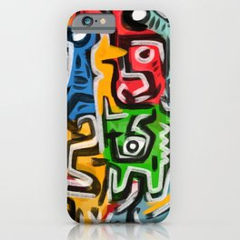 Primitive street art abstract iPhone Case
