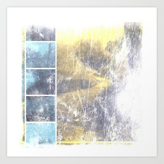 INST'ART in blue and yellow Art Print