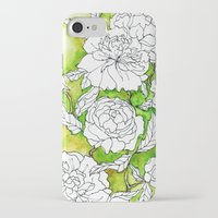 peonies iPhone & iPod Cases featuring Peonies by Dheiuk