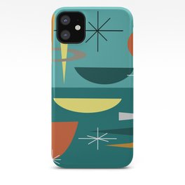 Turquoise Mid Century Modern iPhone Case