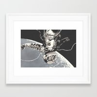 gravity Framed Art Prints featuring Gravity by Señor Salme