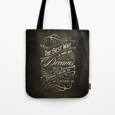 The Best Way - Typography Tote Bag