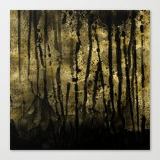 Black and Gold grunge modern abstract backround Canvas Print