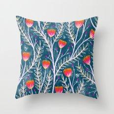 Tiny Moth Garden Pattern Throw Pillow