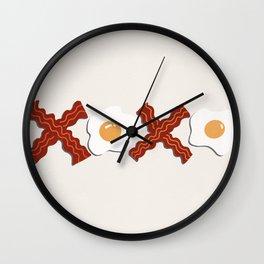 XOXO Bacon & Eggs Wall Clock