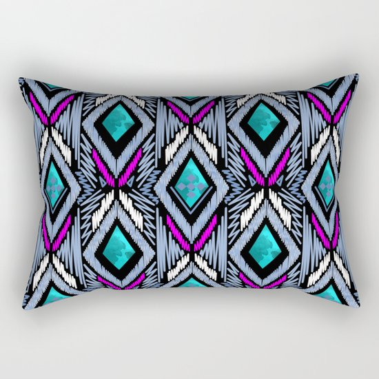 Colorful ethnic ornament . Rectangular Pillow