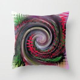 Swirls of music Throw Pillow