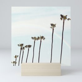 Rainbow Palms Mini Art Print