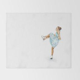 Figure Skating Heel Grab Throw Blanket