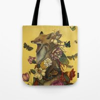 lost Tote Bags featuring Fox Confessor by Lindsey Carr