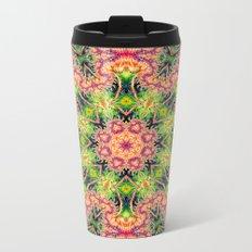 BBQSHOES: Kaleioscopic Fractal Mandala 1543K2 Metal Travel Mug