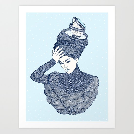 ♥ Early Winter,  Tea time (temporada oficial de tecitos ♥) Art Print