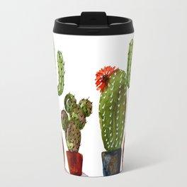 STRONG MAN Cactus in Watercolor Travel Mug