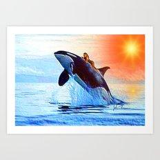 Orca Queen Art Print