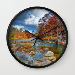 Guadalupe River Wall Clock