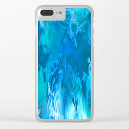 Marshmellow Skies (sapphire-turquoise-sky blue) Clear iPhone Case