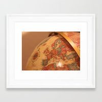 globe Framed Art Prints featuring Globe by RMK Photography
