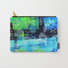 Blooms + Crosses Carry-All Pouch